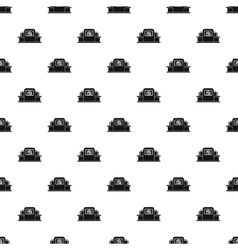 Airport baggage security scanner pattern vector
