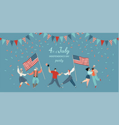 america independence day party invitation vector image