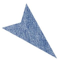 Arrowhead right-down fabric textured icon vector