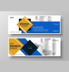 Attractive modern blue business banner template vector