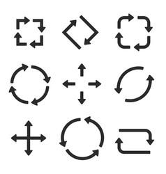 Black arrows combinations vector