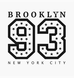 brooklyn new york design clothes t-shirts vector image