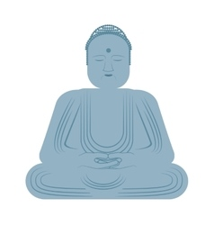 Buddha statue isolated icon vector