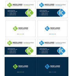 Business card with the letter k corporate cards vector