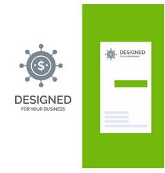 Business economics global modern grey logo design vector