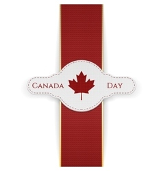 Canada Day national Banner with red Ribbon vector
