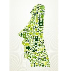 Chile go green concept vector