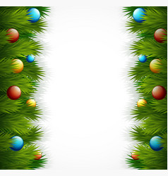 christmas tree decoration on white background vector image