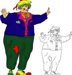 Clown dancing vector