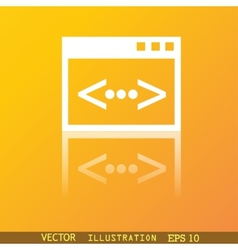 Code icon symbol Flat modern web design with vector