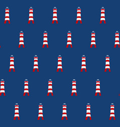 Color lighthouse seamless background vector