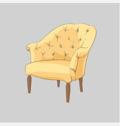 Comfortable armchair for the living room vector