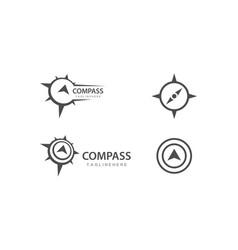 Compass logo template vector