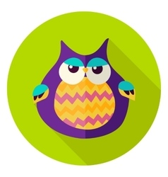 Cute Owl Circle Icon vector image