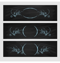 Design element Beauty decorative frame for text vector image