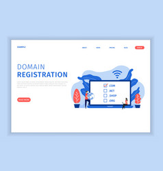 Domain registration concept vector
