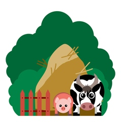 farm animals and related items vector image