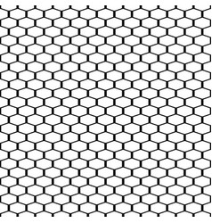 geometric seamless grating background vector image