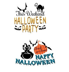 Halloweenscary banners vector image