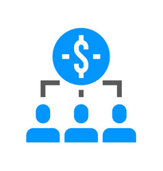 human resource line icon investment management vector image