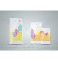 Infographic elements it industry design vector