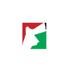 Jordan map logo icon symbol element vector