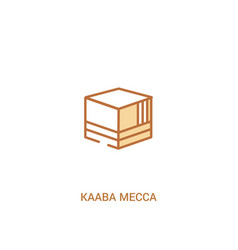 kaaba mecca concept 2 colored icon simple line vector image