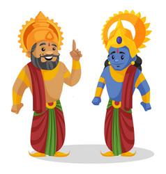 King dasaratha lord rama cartoon character vector