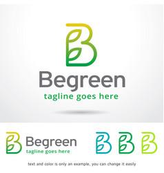 Letter b logo template design vector