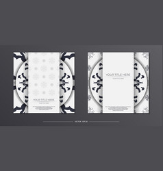 Light color vintage postcards with abstract vector