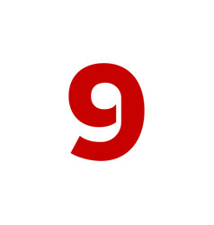 logo number 9 red vector image