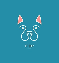 Logo with a dog vector image
