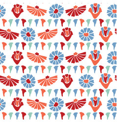 Lower all over print colorful blooms vector