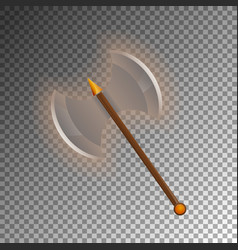 medieval two blades axe isolated game element vector image