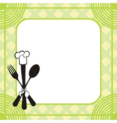 Menu knife fork spoon vector