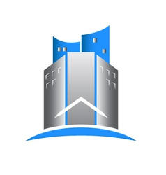 Modern building real estate logo vector image
