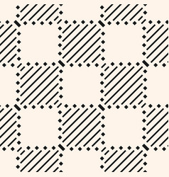 monochrome geometric checkered seamless pattern vector image