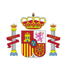 national spain coat of arms spain vector image