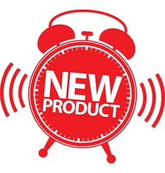 New product alarm clock icon vector image
