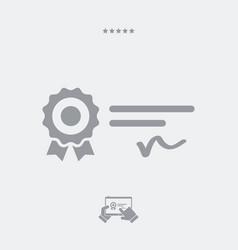official award - web icon vector image