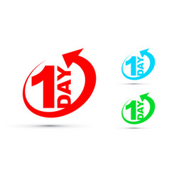 one day icon set vector image