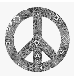 Peace symbol round pacifism sign vector