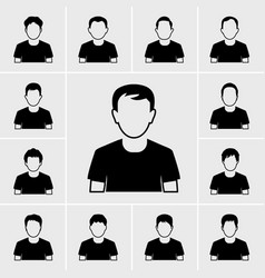 people man icons set vector image