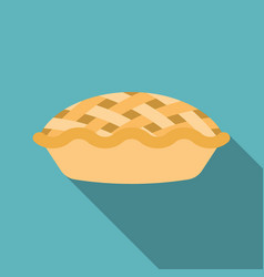 pie icon with long shadow vector image