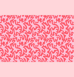 Pink seamless pattern with stylized dancing people vector