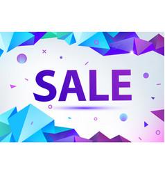 Promo sale poster banner eometric facet vector