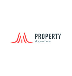 property logo sign vector image
