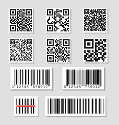 qr code set vector image