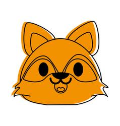 Raccoon cute animal cartoon icon image vector