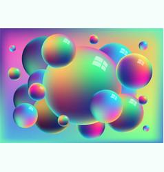 Rainbow anodized titanium balls background vector